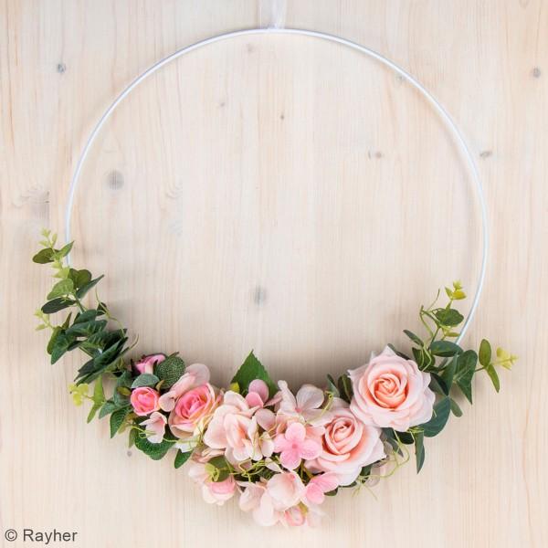 Fleur Artificielle avec tige - Roses rosées - 15 cm - Photo n°2