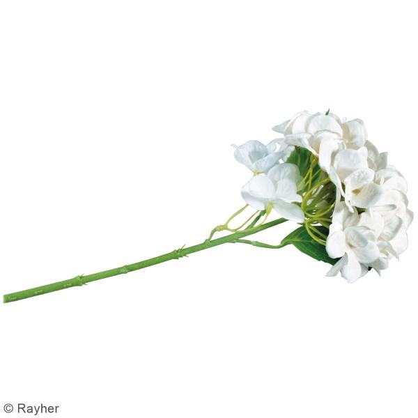 Fleur Artificielle avec tige - Hortensia blanc - 33 cm - Photo n°4