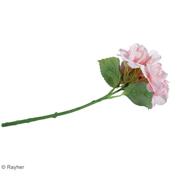 Fleur Artificielle avec tige - Hortensia rose clair - 33 cm - Photo n°4