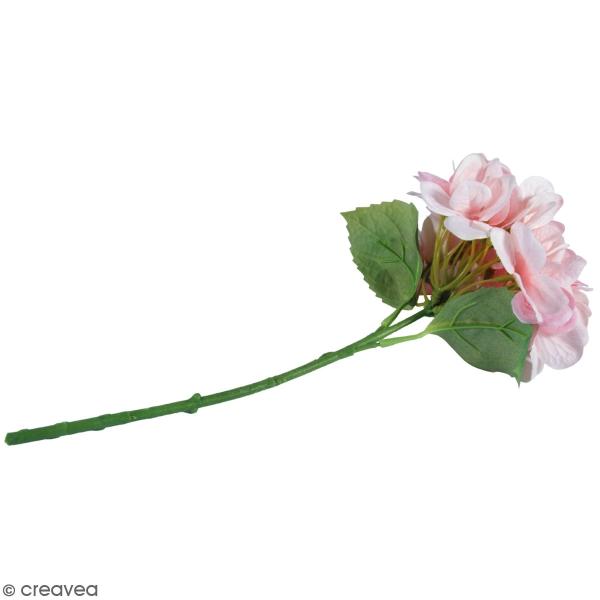 Fleur Artificielle avec tige - Hortensia rose clair - 33 cm - Photo n°1