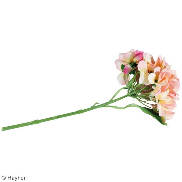 Fleur Artificielle avec tige - Hortensia rose - 33 cm - Photo n°4