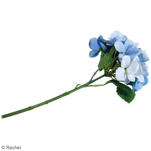Fleur Artificielle avec tige - Hortensia bleu clair - 33 cm - Photo n°4