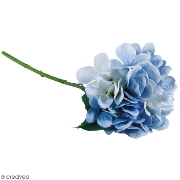 Fleur Artificielle avec tige - Hortensia bleu clair - 33 cm - Photo n°1