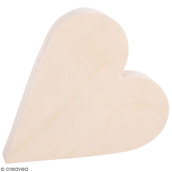 Coeur en bois à décorer - 25 x 27 x 3 cm - Photo n°1