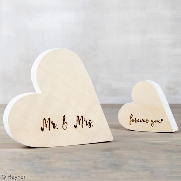 Coeur en bois à décorer - 11 x 12 x 3 cm - Photo n°2