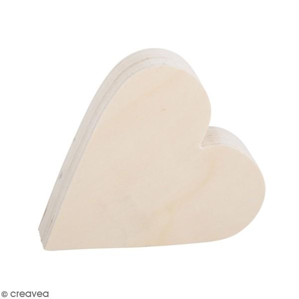 Coeur en bois à décorer - 11 x 12 x 3 cm - Photo n°1