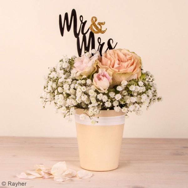 Tige de décoration en bois - Mr et Mrs - 9,3 x 18 cm - 2 Pcs - Photo n°2