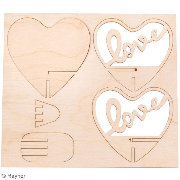 Déco 3D à monter - Coeur - 9,6 cm - Photo n°3