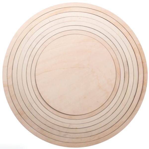 Set Cercles en bois - De 36 cm à 60 cm - 8 pcs - Photo n°1
