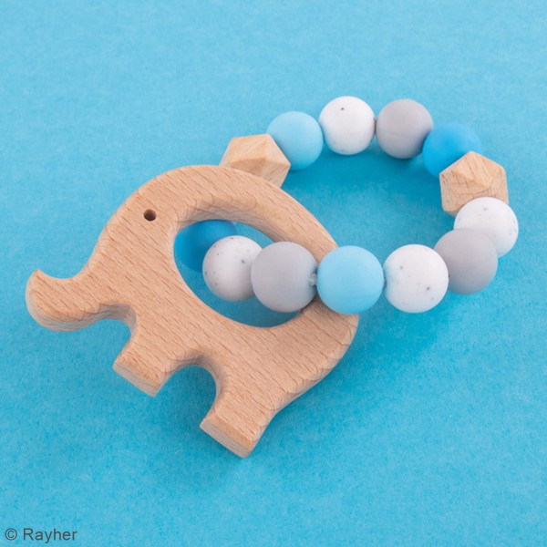 Kit DIY Anneau de dentition - Éléphant - Bleu - Photo n°2