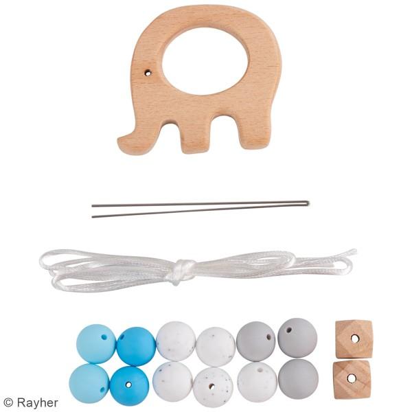 Kit DIY Anneau de dentition - Éléphant - Bleu - Photo n°3