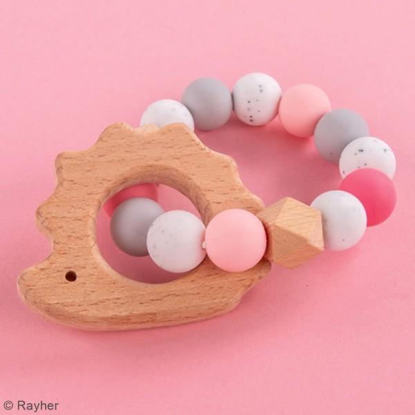 Kit DIY Anneau de dentition - Hérisson - Rose - Photo n°2