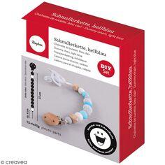 Kit DIY Attache-tétine - Bleu