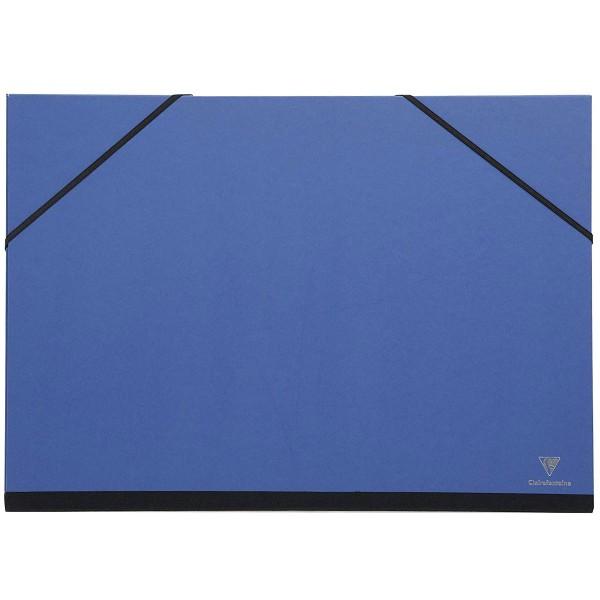 Carton / chemise à dessin - 26 x 33 cm - Bleu - Photo n°1