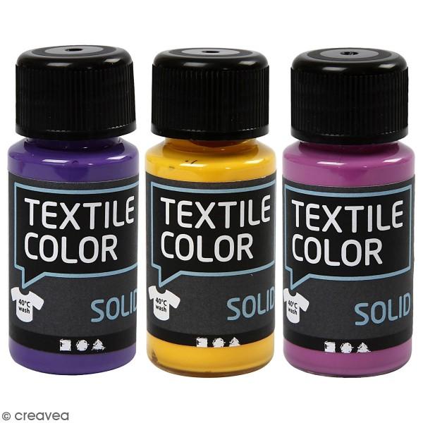 Peinture tissu Textile Color Solid - Plusieurs coloris - 50 ml - Photo n°1