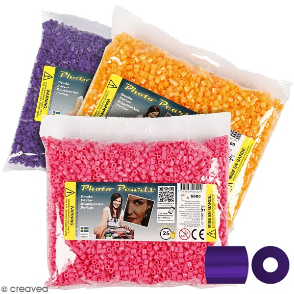 Perles à repasser Midi 5 mm - Plusieurs coloris - 6000 pcs - Photo n°1