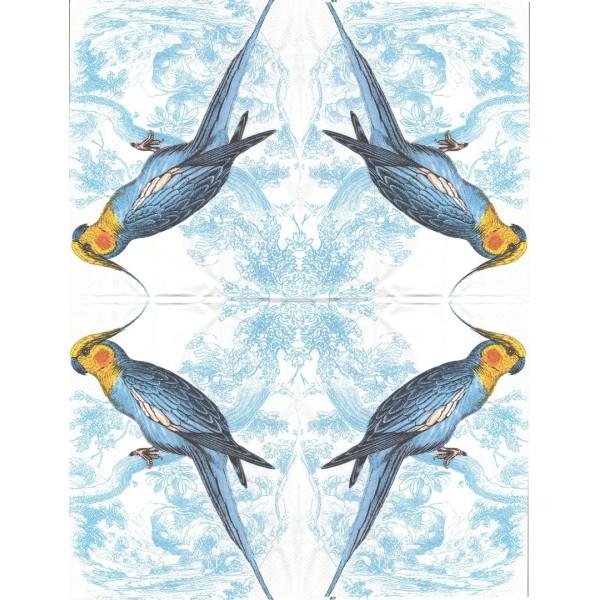 3 Serviettes en papier Perroquet Format Invité Decoupage Decopatch BF-578500 Caskata Studio IHR - Photo n°1