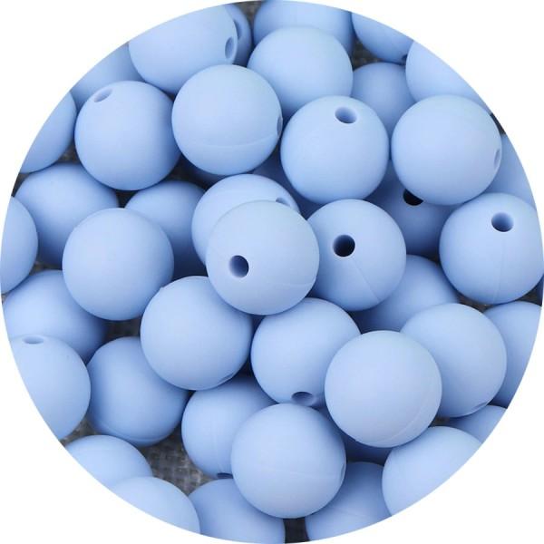 attache tetine 10 Perles Ballon de football Bleu Marine Acrilique 12mm bijoux
