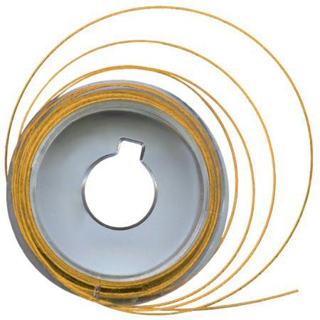 Fil câblé métal doré 5 m x 0,5 mm