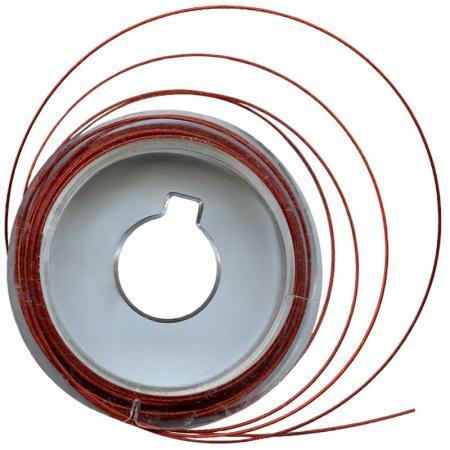 Fil câblé métal Rouge 5 m x 0,5 mm