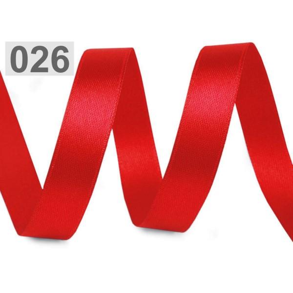 22,5 m de 148 Satin Rouge Largeur du Ruban 12 mm, Simple Face, Rubans - Unique de la Couleur, de la - Photo n°1