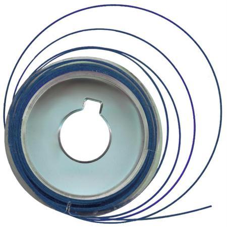 Fil câblé métal Bleu 5 m x 0,5 mm