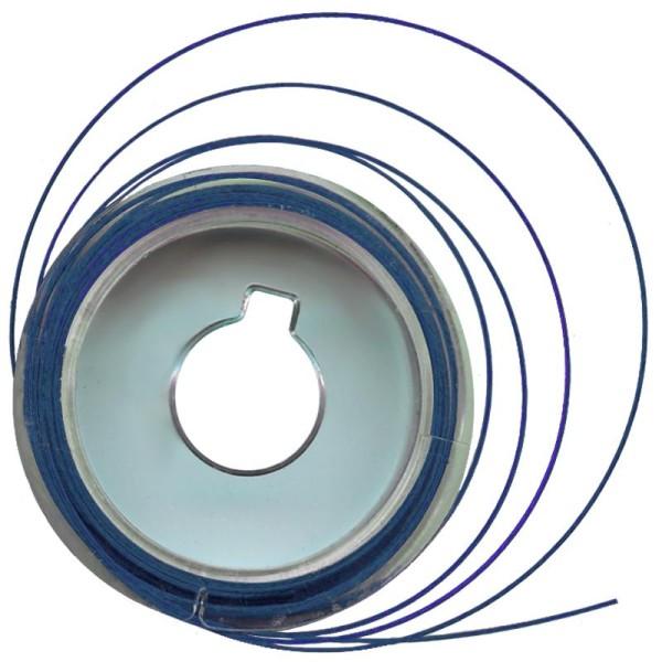 Fil câblé métal Bleu 5 m x 0,5 mm - Photo n°1
