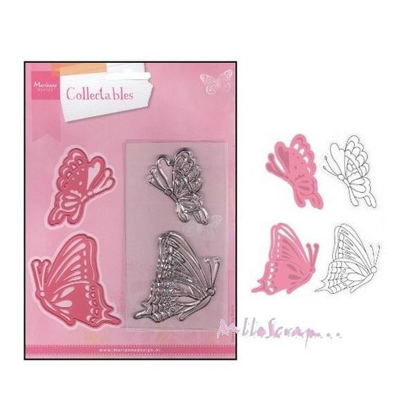 Die cut - tampons papillons Marianne Design - 4 pièces - Photo n°1