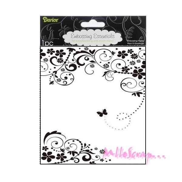 Plaque d'embossage Darice - papillon A4 - Photo n°1