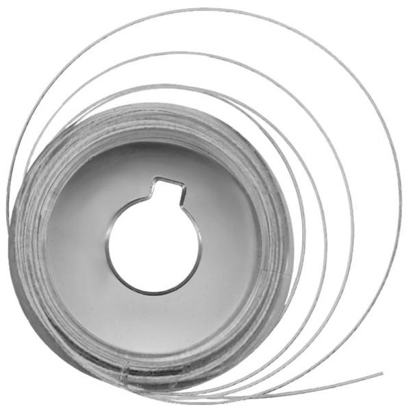 Fil câblé métal Blanc 5 m x 0,5 mm - Photo n°1