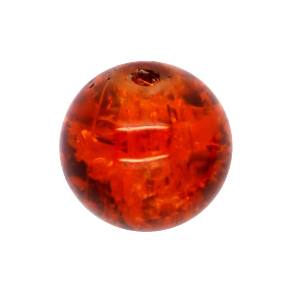 30 x Perle en Verre Craquelé 10mm Sienne - Photo n°1