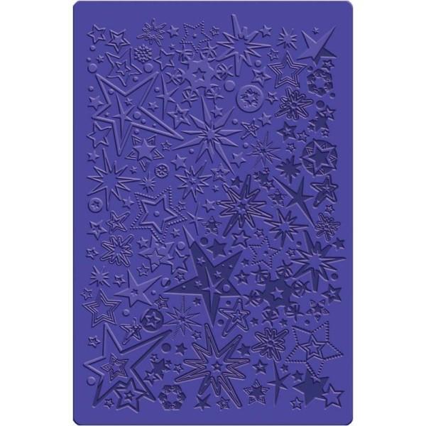 Plaque de texture Étoiles et flocons 13,5 x 20,5 cm - Photo n°1