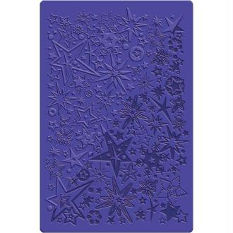 Plaque de texture Étoiles et flocons 13,5 x 20,5 cm