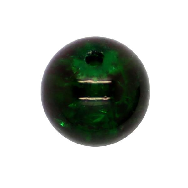 20 x Perle en Verre Craquelé 12mm Vert Foncé - Photo n°1