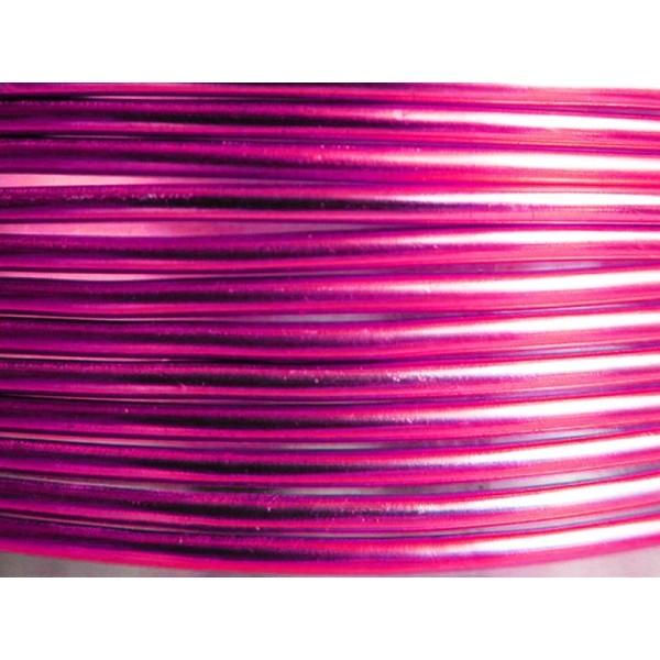 10 Mètres fil aluminium fushia 2mm Oasis ® - Photo n°1