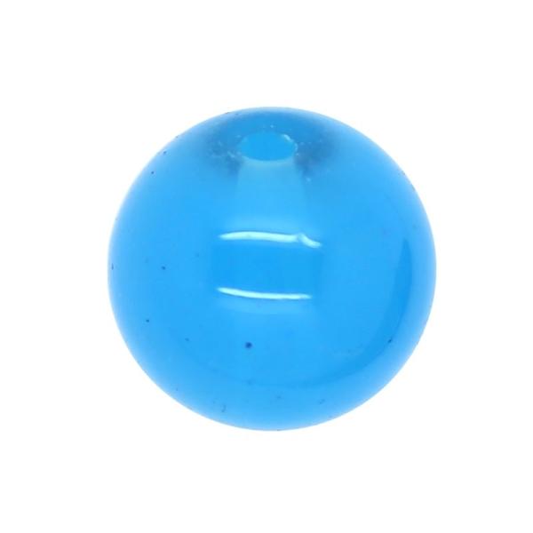 30 x Perle en Verre Imitation Jade 10mm Bleu Ciel - Photo n°1