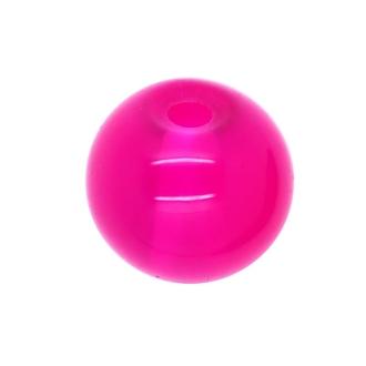 30 x Perle en Verre Imitation Jade 10mm Rose Vif