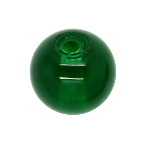 30 x Perle en Verre Imitation Jade 10mm Vert - Photo n°1