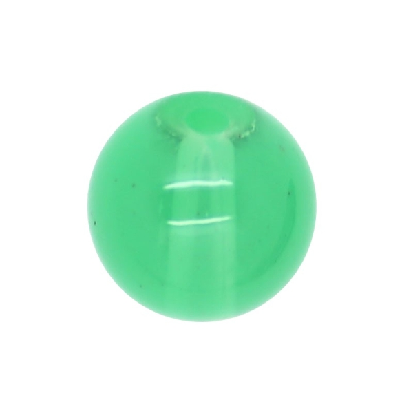 30 x Perle en Verre Imitation Jade 10mm Vert Clair - Photo n°1
