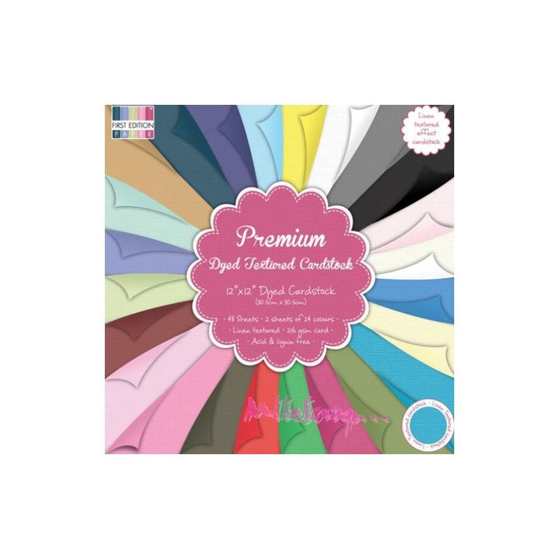 Papermania Capsule Bloc de 48 feuilles de papier color/é Multicolore 30,5/x/30,5/cm