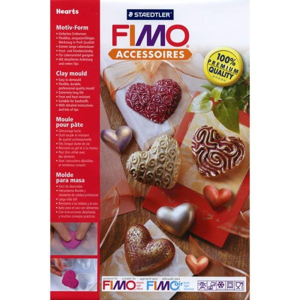 Moule pour FIMO Coeurs x 8 - Photo n°1