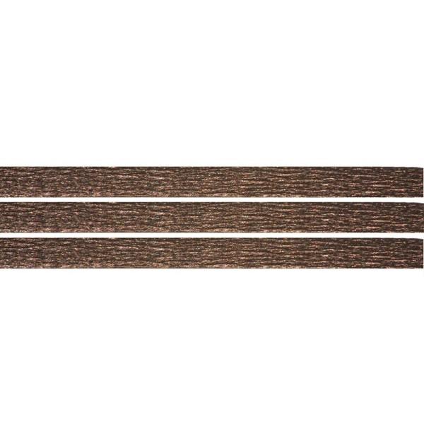 2 mètres de Cuir Plat Noir 5mm x 1mm