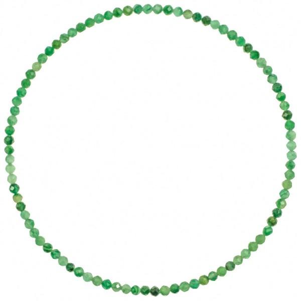 Bracelet en aventurine - Perles facetées ultra mini. - Photo n°2