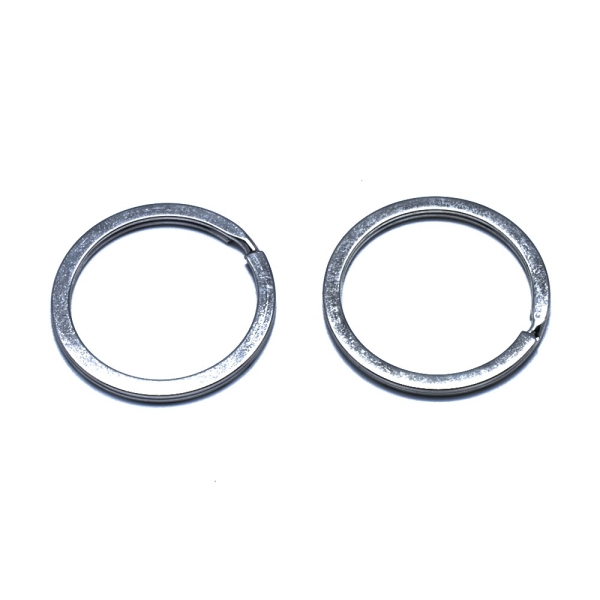 Accessoires anneaux support porte clé 25 mm gris x 50 pièces - Photo n°1