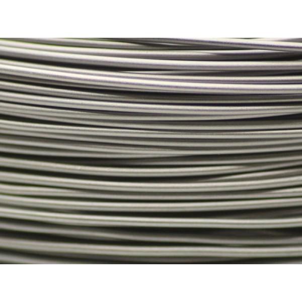 10 Mètres fil aluminium Gris métal 1mm - Photo n°1