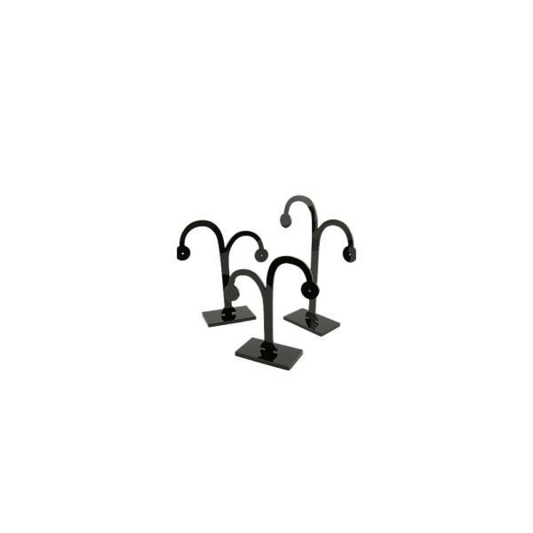 Porte bijoux présentoirs boucles d'oreille arbre en plastique lot de 3 Noir - Photo n°1