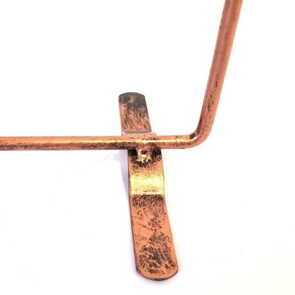 Porte bijoux présentoir boucles d'oreilles cadre (60 paires) Cuivre patiné - Photo n°2