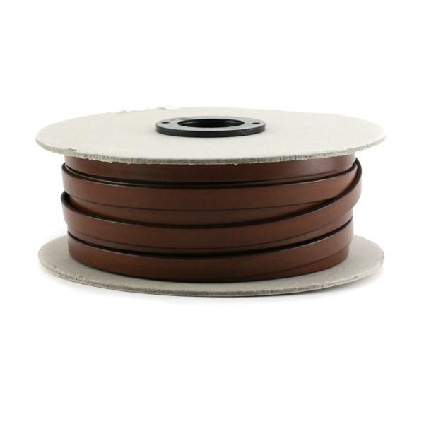 Cuir plat veau marron 5 mm x10 cm - Photo n°1