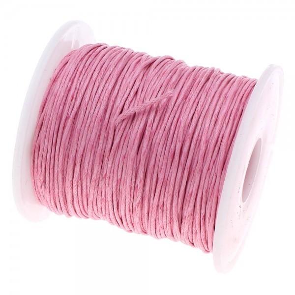 160428090701 PAX 1 Bobine d'environ 70m de fil en coton ciré 1mm Rose 2S2133 NO50 - Photo n°1