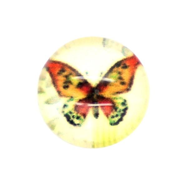 10x Cabochon Imprimé Papillon 10mm - Photo n°1